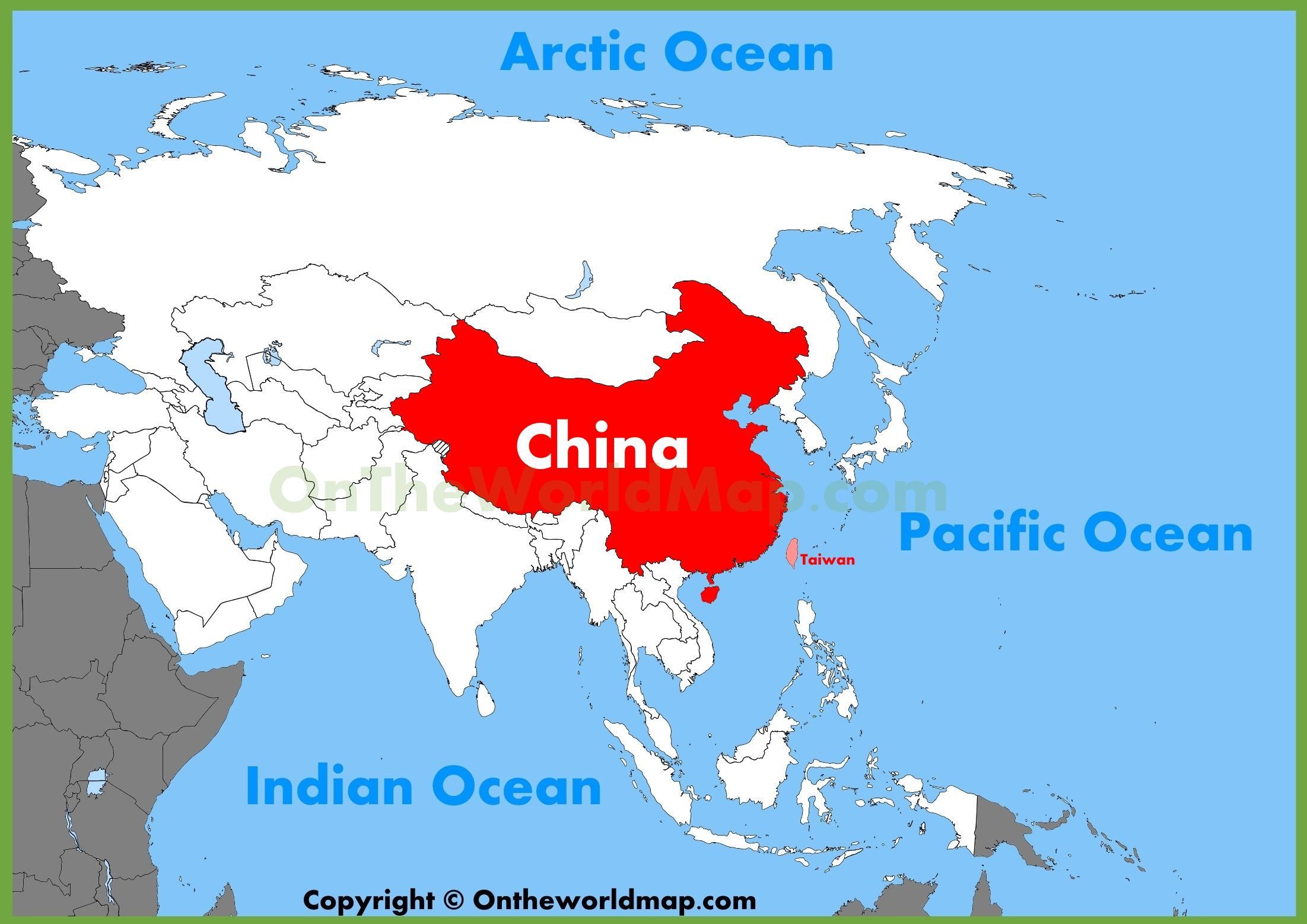 china mapa Ásia China mapa   China ásia mapa (Ásia Leste da Ásia) china mapa